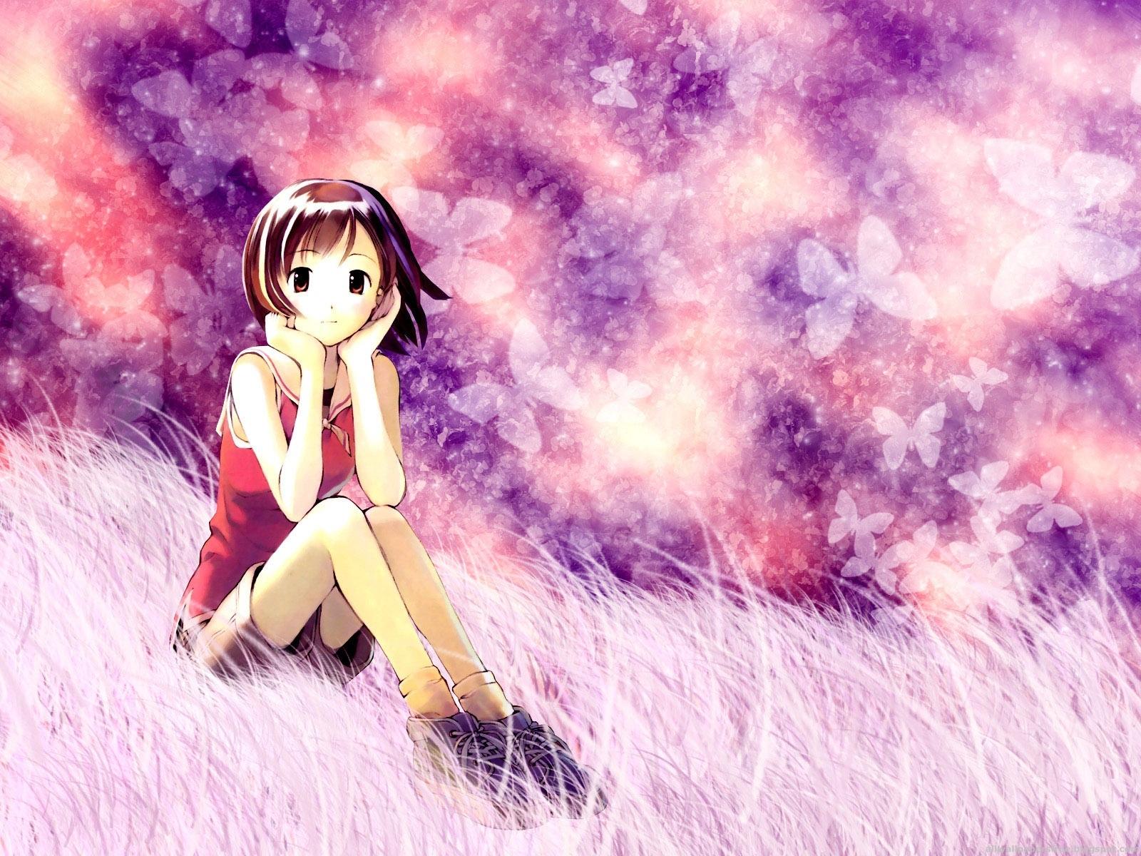 Рисованные красивые девушки из аниме 11 фотография